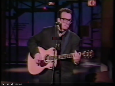 Elvis Costello - Pads, Paws and Claws (bij David Letterman) (1989)