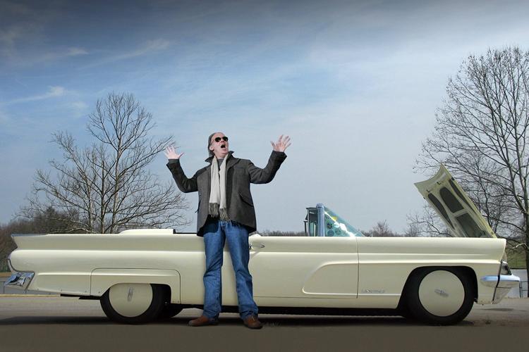 Neil Young - LincVolt Lincoln Continental MK IV convertible (2008)