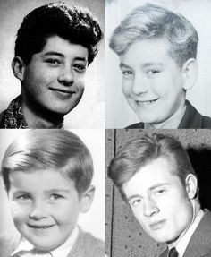 Led Zeppelin: boven Jimmy Page en Robert Plant, onder John Bonham en John Paul Jones.